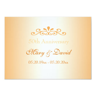 Invitaciones elegantes del aniversario de boda de invitación 11,4 x 15,8 cm