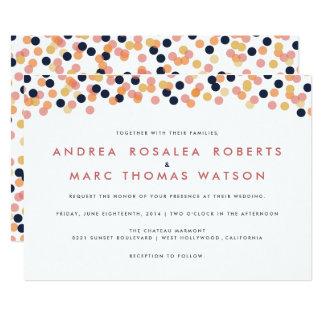Invitaciones elegantes del boda de la ducha del invitación 12,7 x 17,8 cm