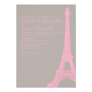 Invitaciones elegantes del boda de la torre Eiffel Invitación 12,7 X 17,8 Cm