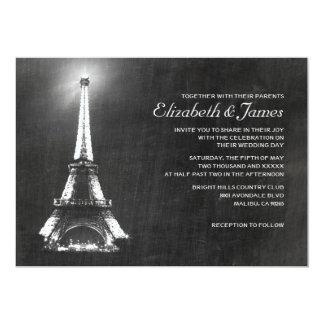 Invitaciones elegantes del boda de París Invitación 12,7 X 17,8 Cm