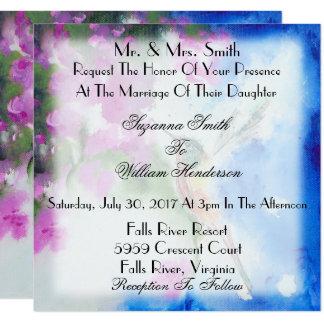Invitaciones elegantes del boda del colibrí invitación 13,3 cm x 13,3cm