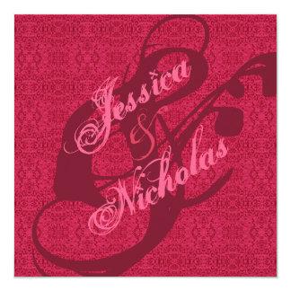 Invitaciones elegantes del boda del modelo del invitación 13,3 cm x 13,3cm