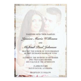 Invitaciones elegantes del boda invitación 12,7 x 17,8 cm