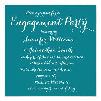 Invitaciones elegantes del fiesta de compromiso invitación 13,3 cm x 13,3cm