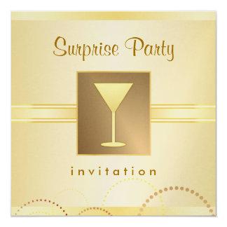 Invitaciones elegantes del fiesta de sorpresa - invitación 13,3 cm x 13,3cm