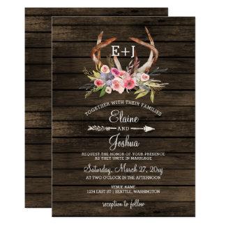 Invitaciones elegantes florecientes del boda del invitación 12,7 x 17,8 cm