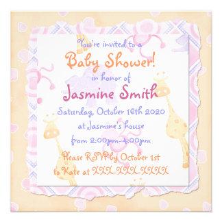 Invitaciones en colores pastel lindas de la fiesta comunicados