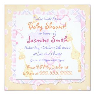 Invitaciones en colores pastel lindas de la fiesta invitación 13,3 cm x 13,3cm