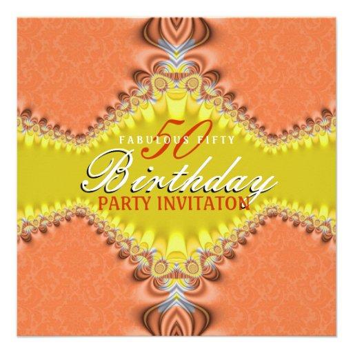 Invitaciones fabulosas de la fiesta de cumpleaños  invitacion personalizada