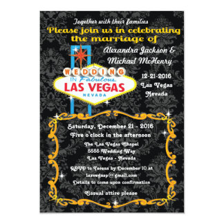 Invitaciones fabulosas del boda del damasco de Las Invitación 12,7 X 17,8 Cm