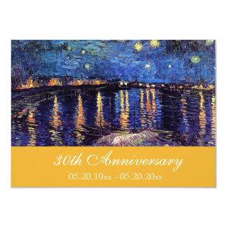 Invitaciones famosas del aniversario de la bella invitación 11,4 x 15,8 cm