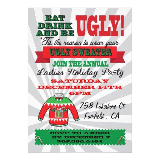 Invitaciones feas de la fiesta de Navidad del suét Comunicado