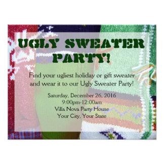 Invitaciones feas del fiesta del suéter comunicado