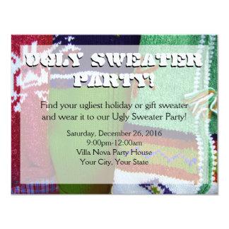 Invitaciones feas del fiesta del suéter comunicado personalizado