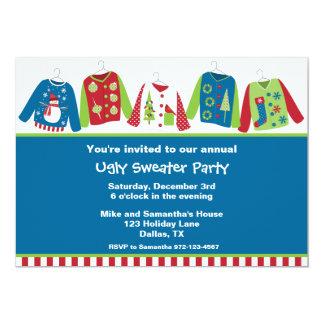Invitaciones feas del fiesta del suéter del invitaciones personalizada