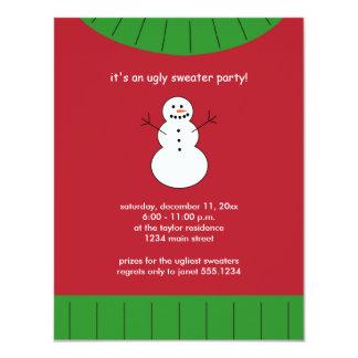 Invitaciones feas del fiesta del suéter del anuncios