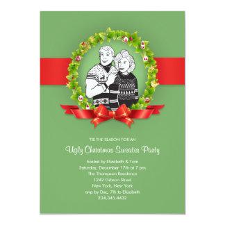 Invitaciones feas del fiesta del suéter del invitación
