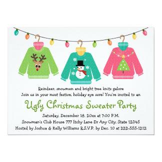 Invitaciones feas del fiesta del suéter del invitación 13,9 x 19,0 cm