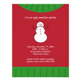 Invitaciones feas del fiesta del suéter del navida anuncios