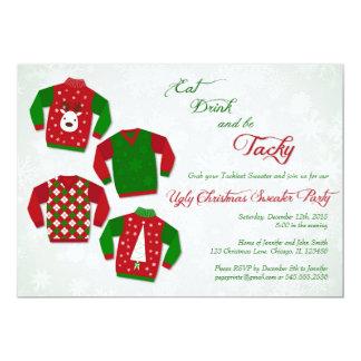 Invitaciones feas del fiesta del suéter - fiesta invitación 12,7 x 17,8 cm