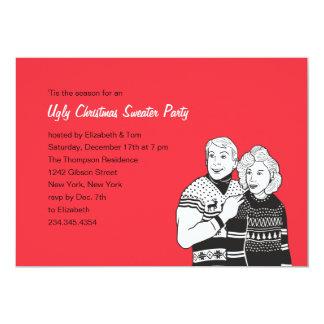 Invitaciones feas del fiesta del suéter invitación 12,7 x 17,8 cm