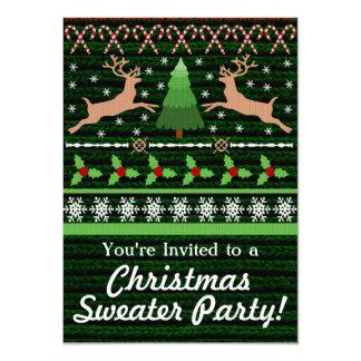 Invitaciones feas divertidas del fiesta del suéter invitación 11,4 x 15,8 cm