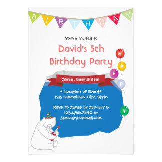 Invitaciones felices del cumpleaños de la piscina  anuncio personalizado