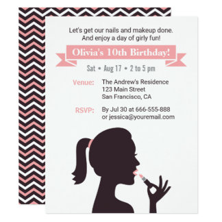 Invitaciones femeninas de la fiesta de cumpleaños