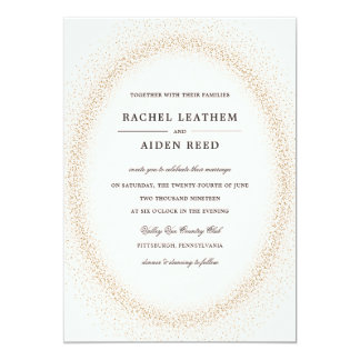 Invitaciones festivas del boda que brillan invitación 12,7 x 17,8 cm