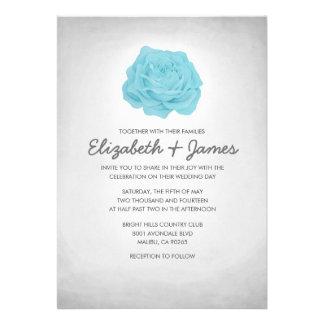 Invitaciones florales de moda de la bodas de plata