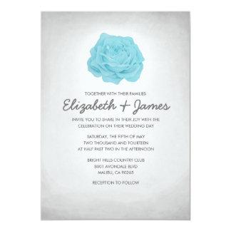 Invitaciones florales de moda de la bodas de plata invitación 12,7 x 17,8 cm