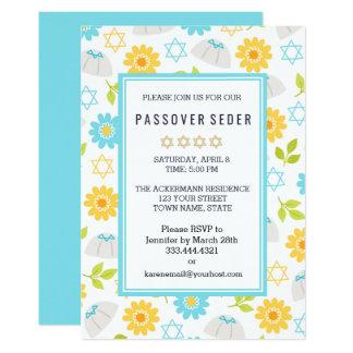 Invitaciones florales de Sedar del Passover de la Invitación 12,7 X 17,8 Cm