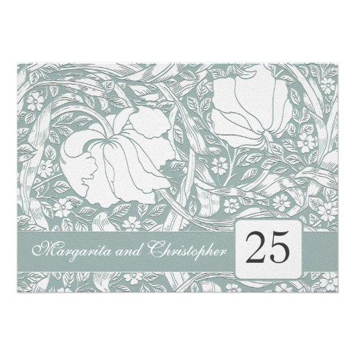 invitaciones florales del 25to aniversario de plat comunicados