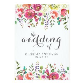 Invitaciones florales del boda de la acuarela