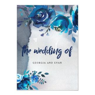 Invitaciones florales del boda de la acuarela de