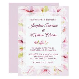 Invitaciones florales del boda de la primavera de