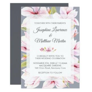 Invitaciones florales del boda del encanto de la