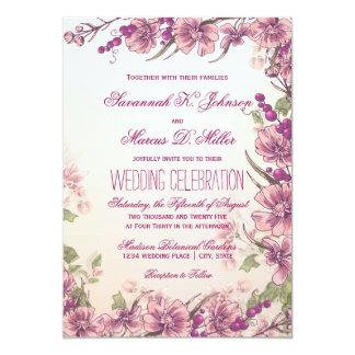 Invitaciones florales del boda del jardín del