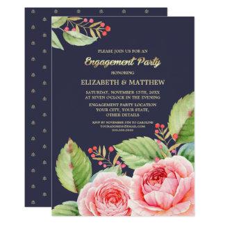 Invitaciones florales del fiesta de compromiso de