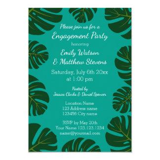 Invitaciones florales del fiesta de compromiso de invitación 12,7 x 17,8 cm