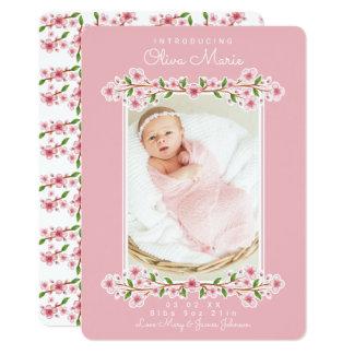 Invitaciones florales dulces del bebé invitación 12,7 x 17,8 cm