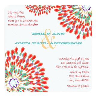 Invitaciones florales modernas del boda del