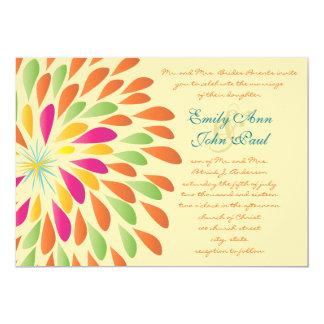 Invitaciones florales modernas del boda del invitación 12,7 x 17,8 cm