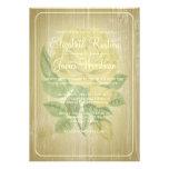 Invitaciones florales rústicas del boda del oro