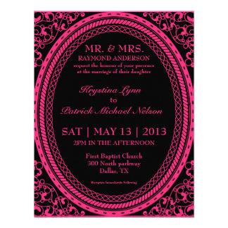 Invitaciones fluorescentes/de neón rosadas de Flou Invitación