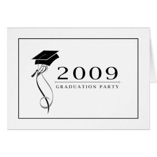 Invitaciones formales de la fiesta de graduación tarjeta pequeña