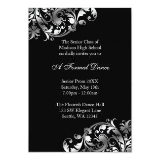 Invitaciones formales de la plata y del baile de invitación 12,7 x 17,8 cm