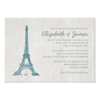 Invitaciones formales del boda de París Invitación 12,7 X 17,8 Cm