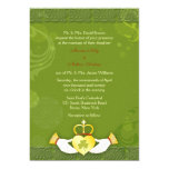 Invitaciones formales del boda del día de St Comunicados Personales