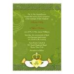 Invitaciones formales del boda del día de St Patri